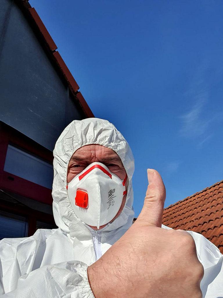 Schutzmaßnahme für z.B. Asbest-Arbeiten