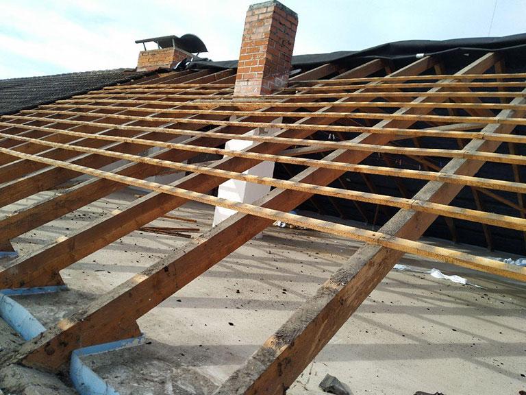 Sanierung einer kompletten Dachumdeckung