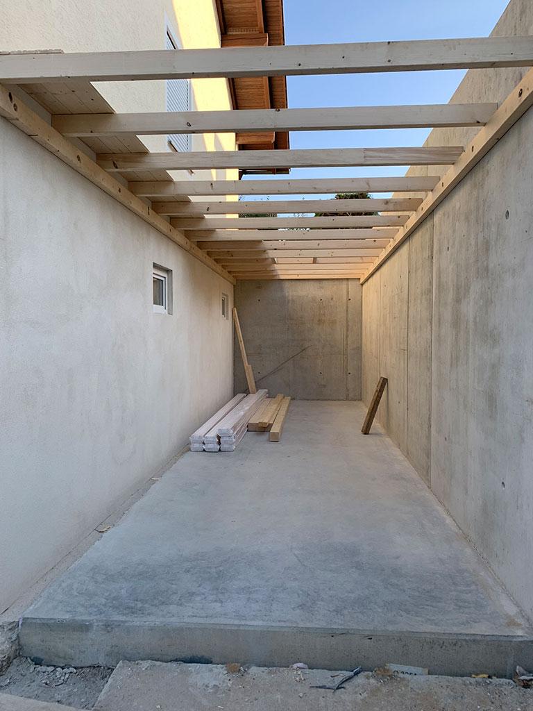 Neubau Dachstuhlarbeiten an einer Garage