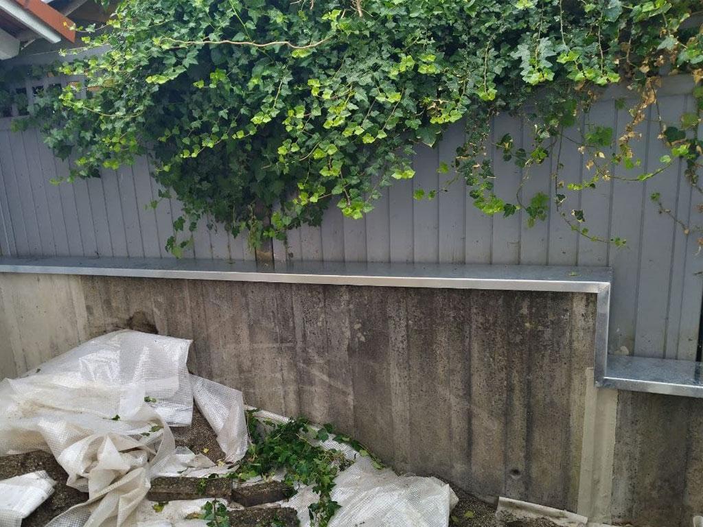 Mauerabdeckblech in Edelstahl