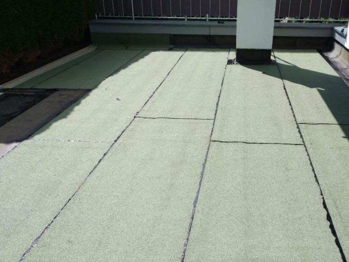 Terrasse mit Grünschieferoberlage