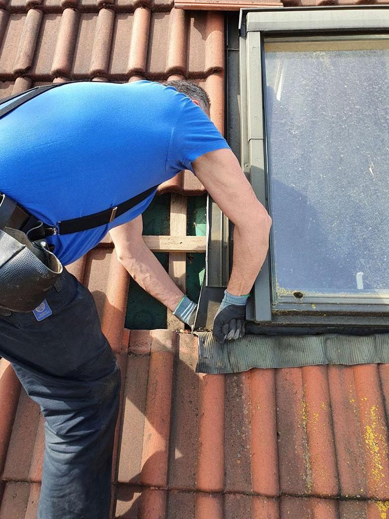 Überprüfung eines Dachfensters